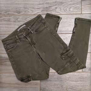 Vince Skinny Military Cargo Pants Olive 29